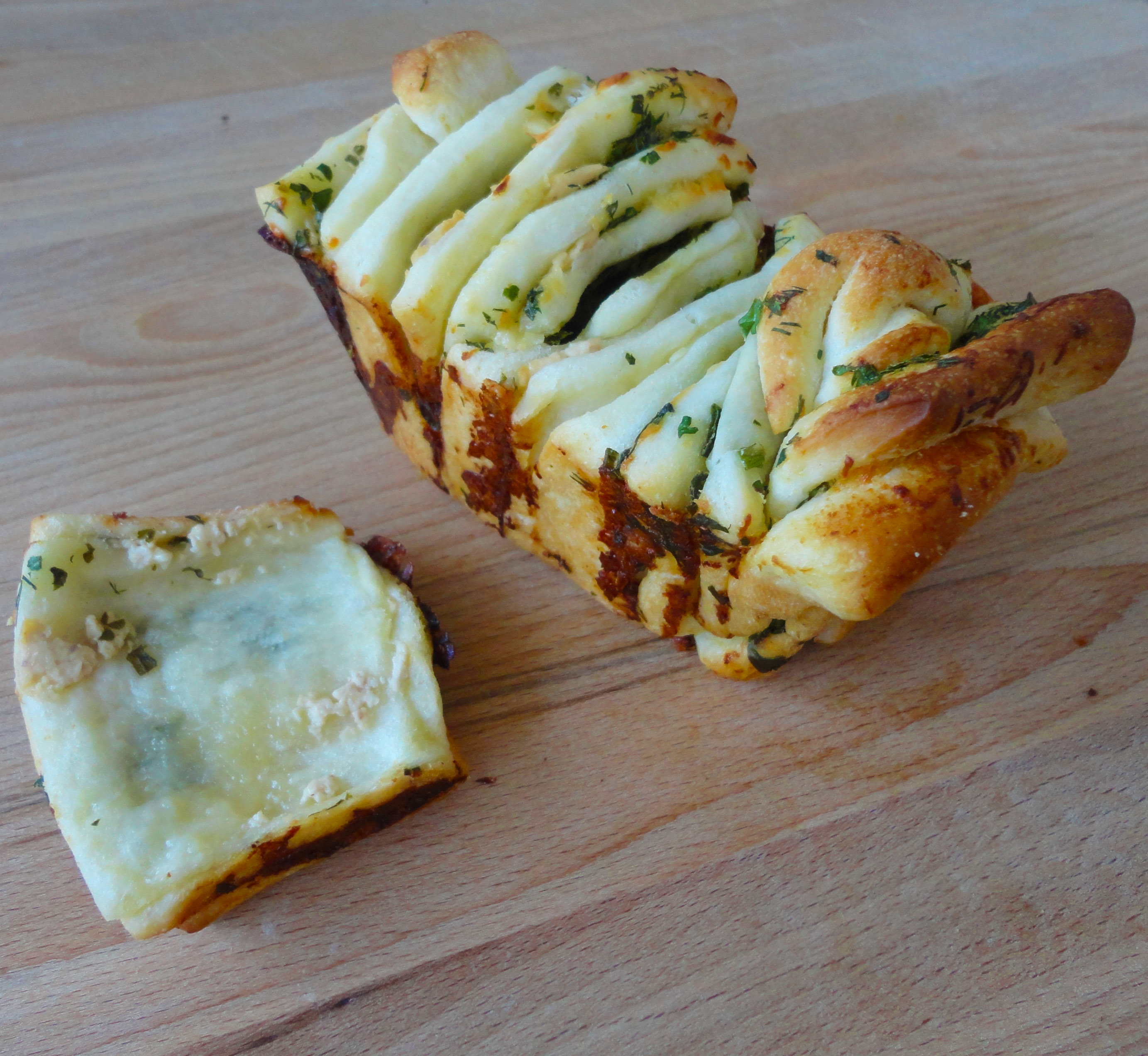 Cheese  Herb Pull-Apart Bread Culinary Adventures in the Kitchen
