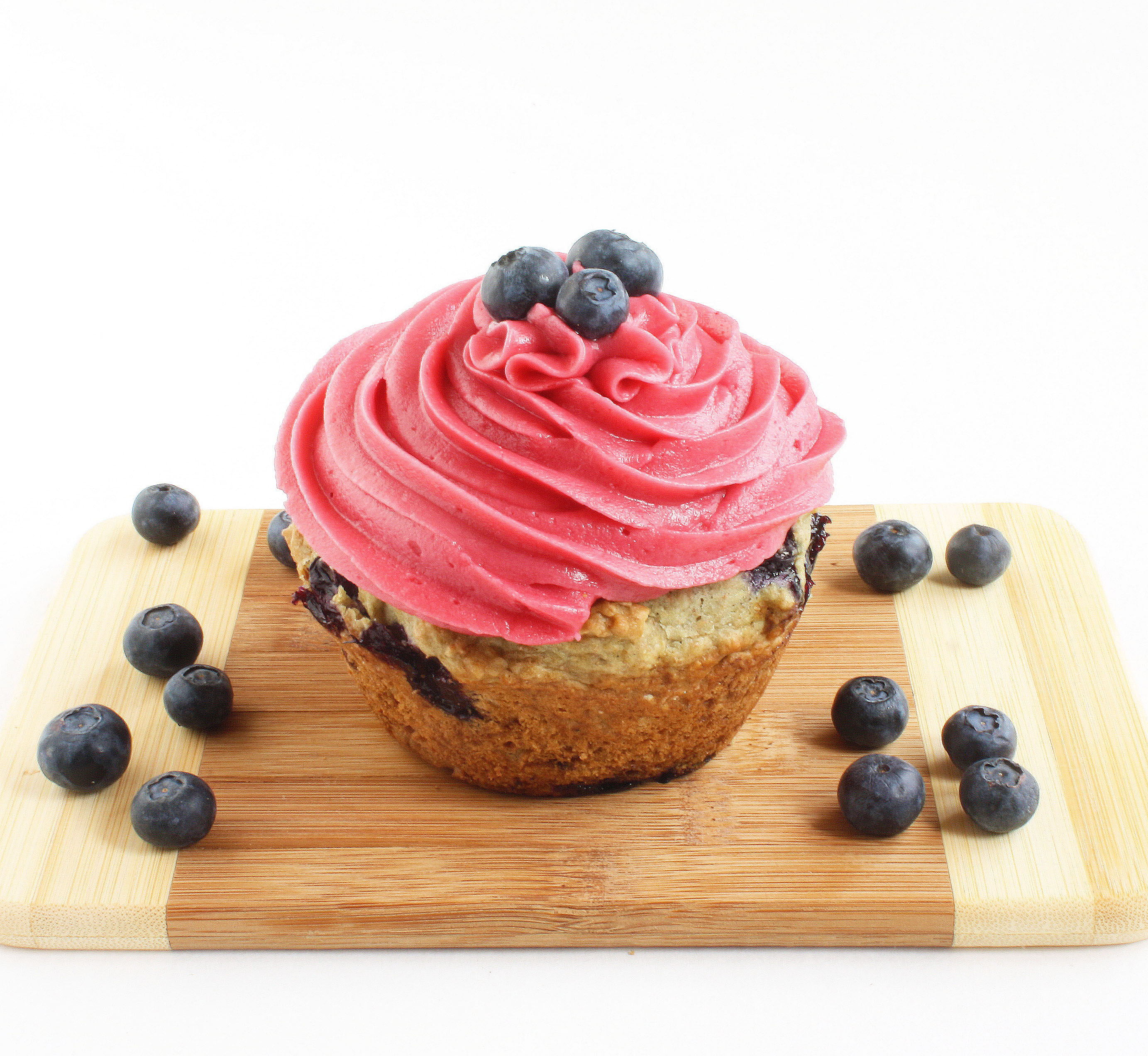 blueberry muffins w raspberry buttercream culinary adventures in the kitchen. Black Bedroom Furniture Sets. Home Design Ideas